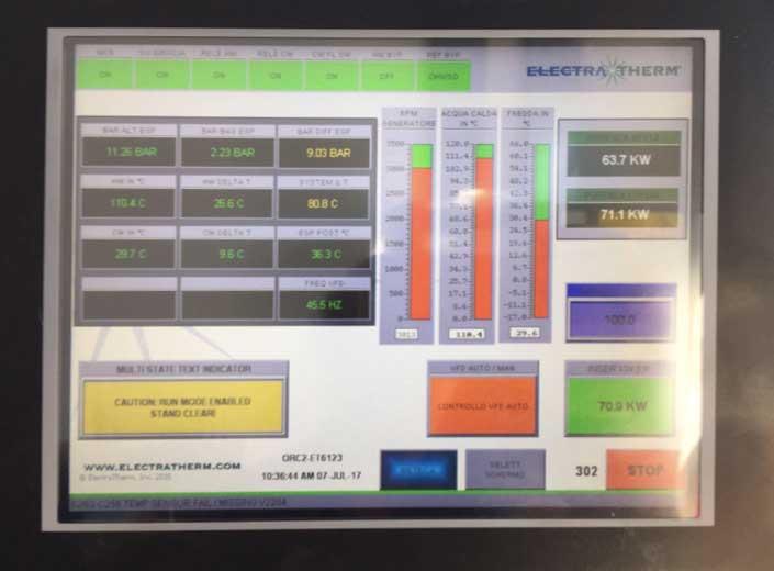 Impianto a biomassa legnosa 200kw - sistema di controllo