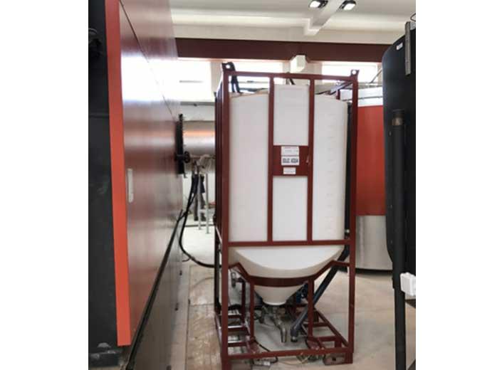 Impianto a biomassa legnosa 200kw - Dry cooler vista dall'alto