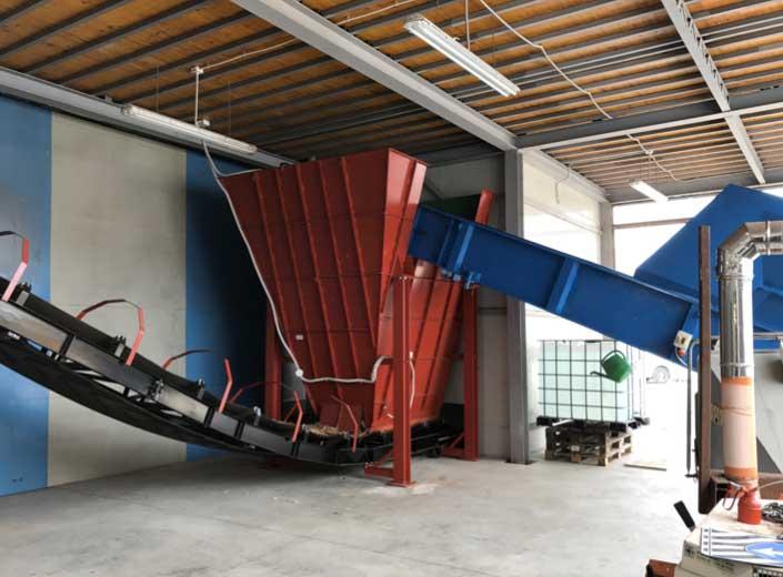 Impianto a biomassa legnosa 200kw - Circuito di alimentazione