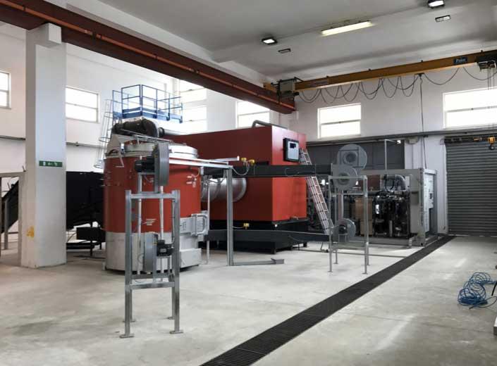 Impianto a biomassa legnosa 200kw - Bruciatore e caldaia