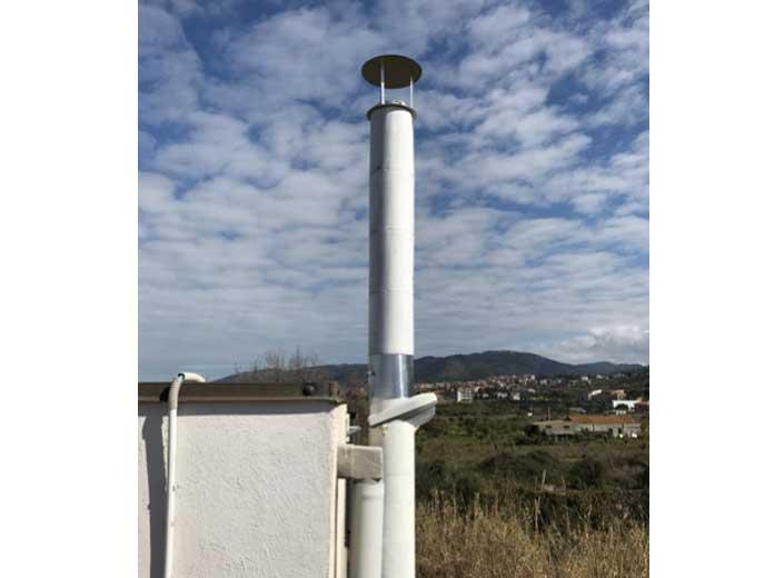 Impianto a biomassa legnosa 200kw - Camino con sonde